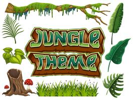 Set van Jungle thema