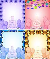 Set of birthday card template