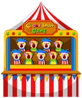 Clown-balspel in het circus
