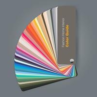 Ilustração do guia de paleta de cores para designer de interiores de moda