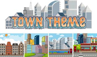 Set of town theme