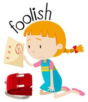 English vocabulary word foolish