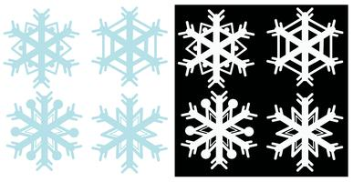 Snowflakes in blue and white colors