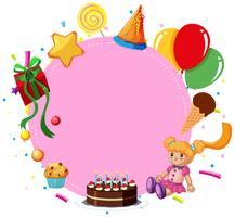 Pink birthday template card