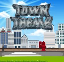 Town tema scen set