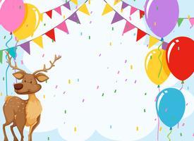 Elch in Geburtstagseinladung vektor