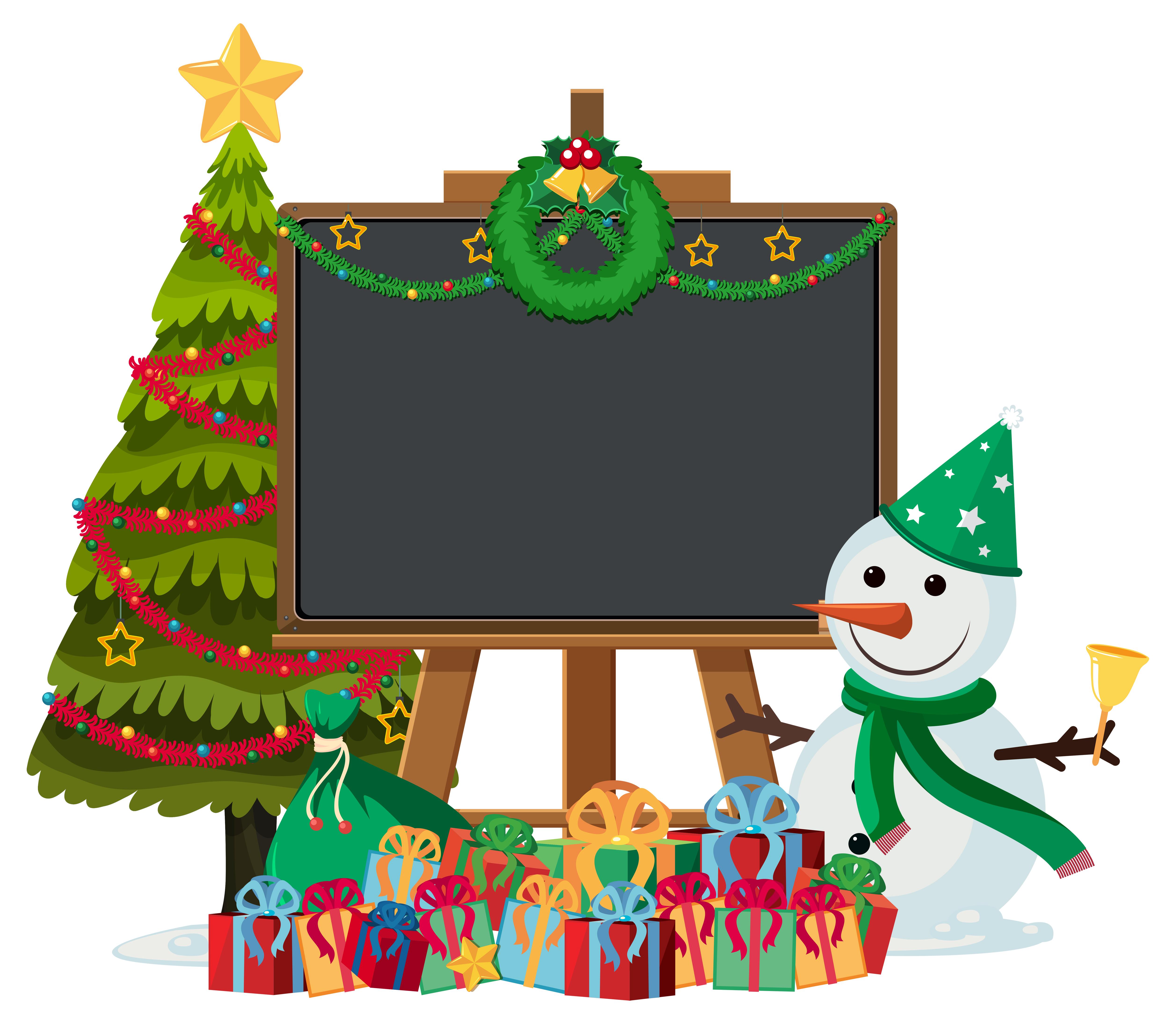 Bonhomme de neige peint main personnage crayon /& topper Set sac de fête cadeau