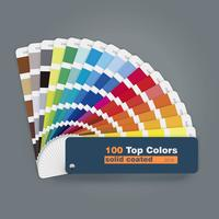 Illustration of 100 top colors palette guide for print web design usage