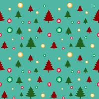 Seamless background template with christmas trees and snowflakes