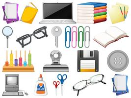Set of office objects