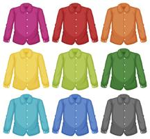 Set med färg krage skjorta
