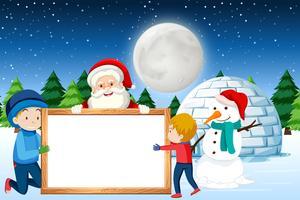 Een vrolijke kerst sjabloon voor spandoek