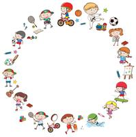 Doodle Kids with Activities Template