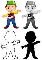 Set of malaysian boy