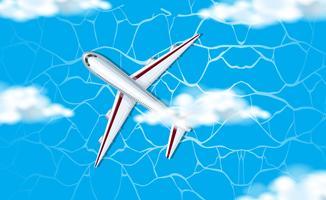 Una veduta aerea dell'aereo in cielo