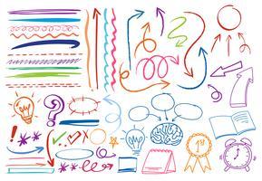 A Set of Colourful Doodle Symbol