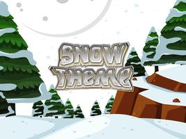 Um tema de neve natureza vetor