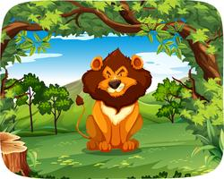 Lion i träscenen