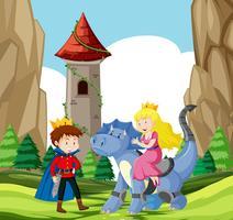 Escena castillo príncipe y princesa