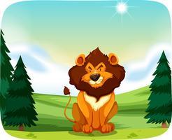 Löwe in der Naturlandschaft