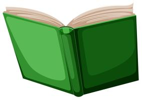 green isolated book background