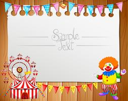 Border design with clown and circus