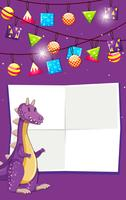 A dinosaur on birthday template