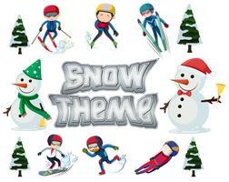 Conjunto de deporte de invierno.