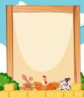 Farm animal on banner template