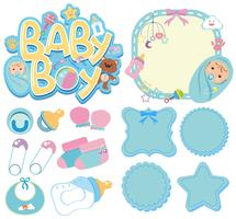 Banner templates for baby boy vector