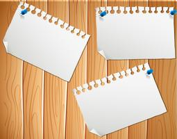 Blank paper wood backgroun template vector