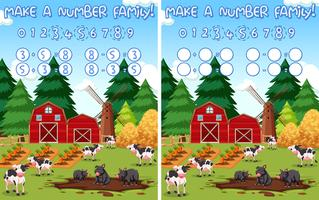 make a number farm maths background