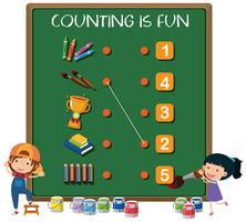 Counting is fun concept vector