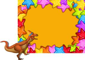 A colourful dinosaur border