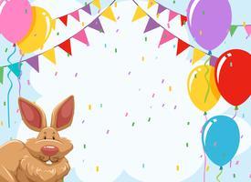 Plantilla de invitación de fiesta de conejo
