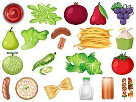 Conjunto de vegetais frescos