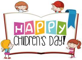 Escena del día de los niños felices vector