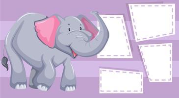 Purple elephant shape frame