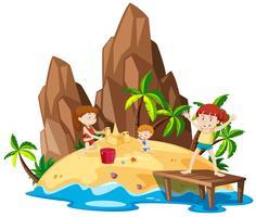 Enfants sur l'île
