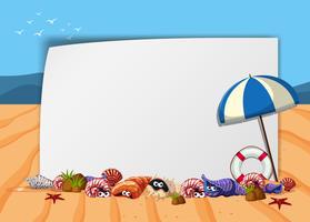 Poster di scena sulla spiaggia