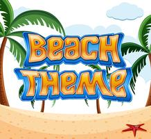 Cartoon Beach tema scen