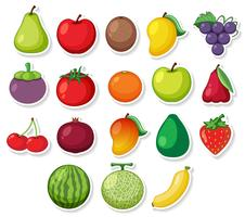 Een set stickerfruit