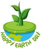 Happy earth day logo