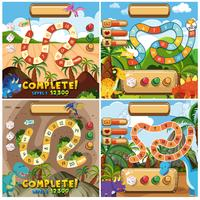 Set of dinosaur gane template