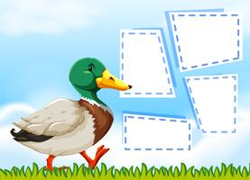 Duck on nature note template