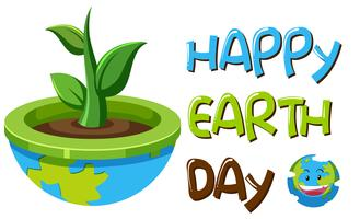 An earth day symbol