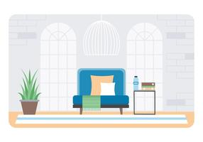 Vector Designer kamer illustratie