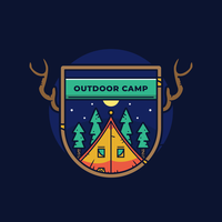 Outdoor Badge Vector