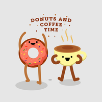 Donuts and Coffee Vector