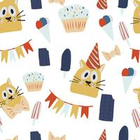 happy birthday greeting cards with cat design